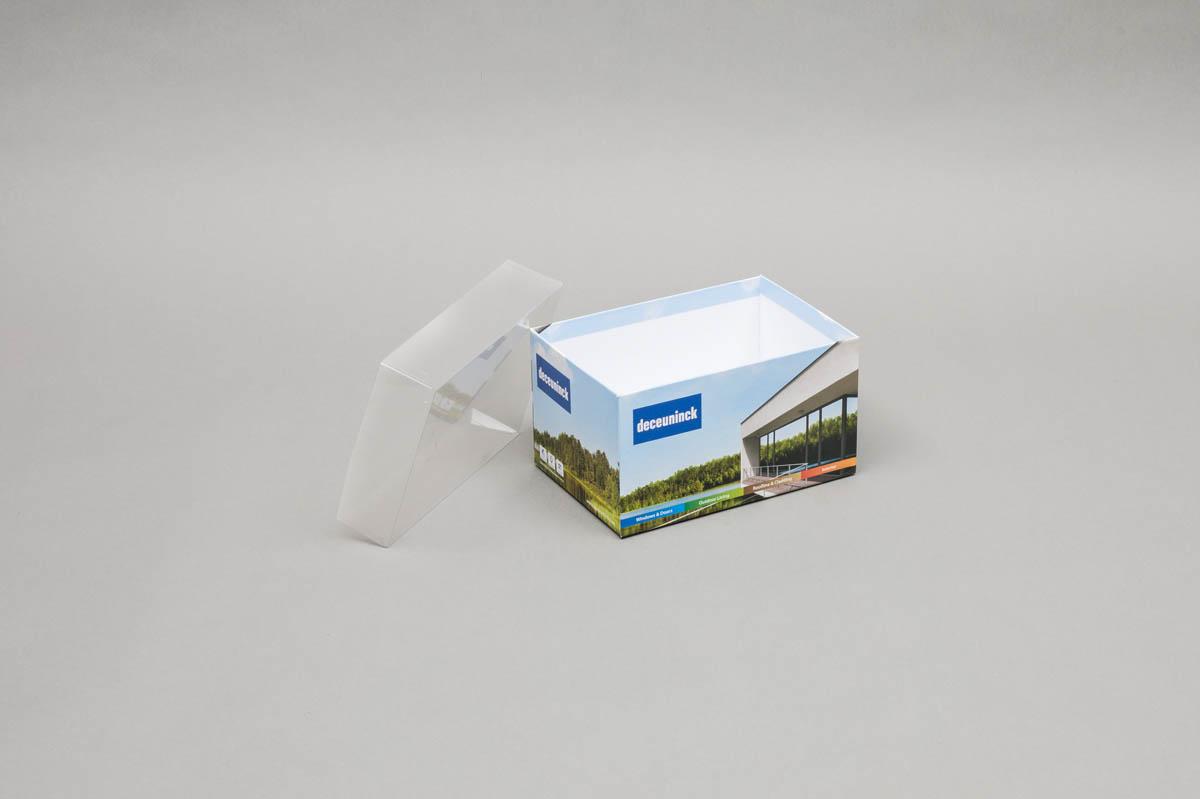 Luxe omkleefde bodem en deksel dozen - omkleefde bodem en PVC deksel